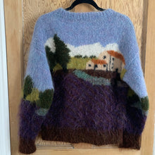 Country scene Hand Knit