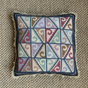 Needlepoint Fringe Edge Cushions