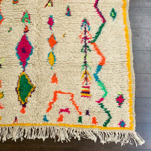yellow neon small azilal rug morrocan berber maison m london