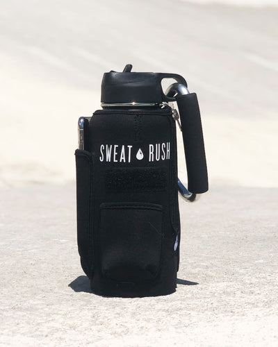 The Rushpack Bottle + Sleeve in Black (32oz)
