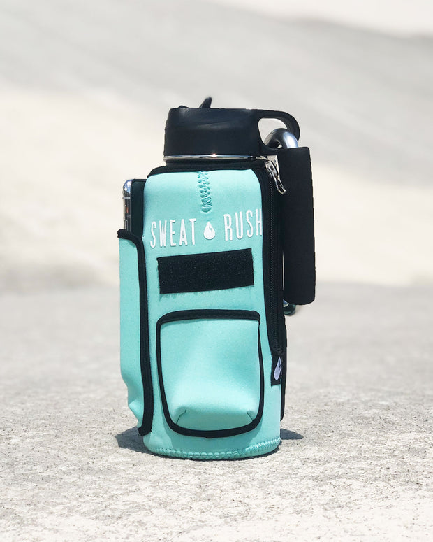 The Rushpack Bottle + Sleeve in Mint (32oz)