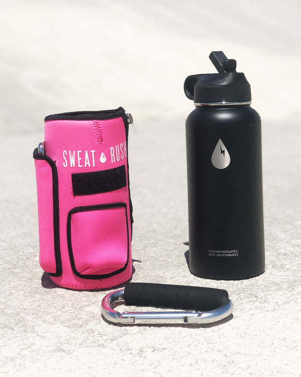 The Rushpack Bottle + Sleeve in Pink (32oz)