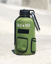 The Rushpack Bottle + Sleeve in OD Green (64oz)