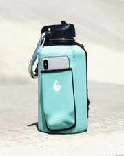 The Rushpack Bottle + Sleeve in Mint (64oz)