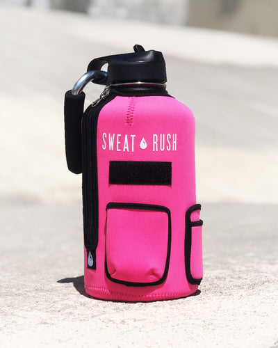 The Rushpack Bottle + Sleeve in Pink (64oz)