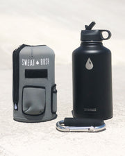 The Rushpack Bottle + Sleeve in Gray (64oz)