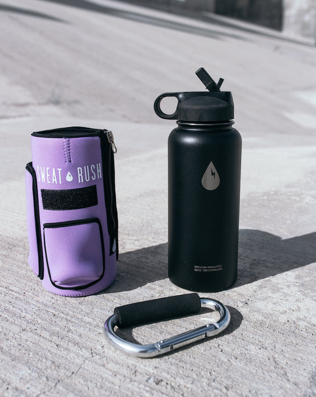 The Rushpack Bottle + Sleeve in Purple (32oz)