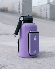 The Rushpack Bottle + Sleeve in Purple (64oz)