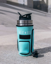 HyperFrost™ Insulated Shaker Bottle + Sleeve in Mint (24oz)