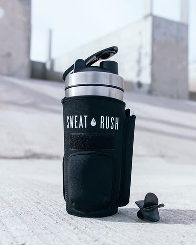 HyperFrost™ Insulated Shaker Bottle + Sleeve in Black (24oz)