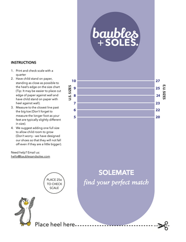 baubles and soles printable size chart
