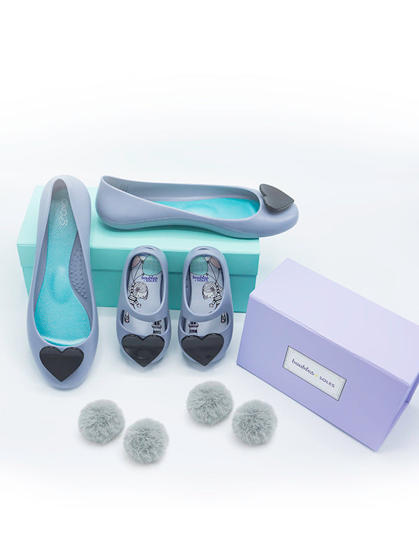 Made for Each Other Mommy and Me Gift Set in Dusty Blue