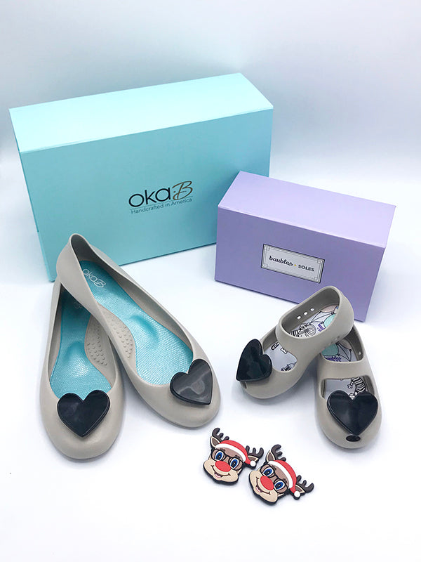 Mommy and Me Gift Set - Ballet Flats in Dove