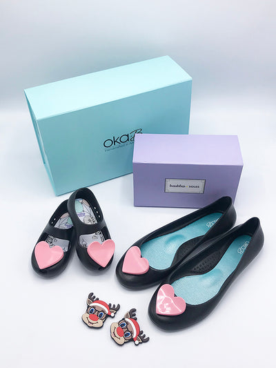 Mommy and Me Gift Set - Ballet Flats in Licorice