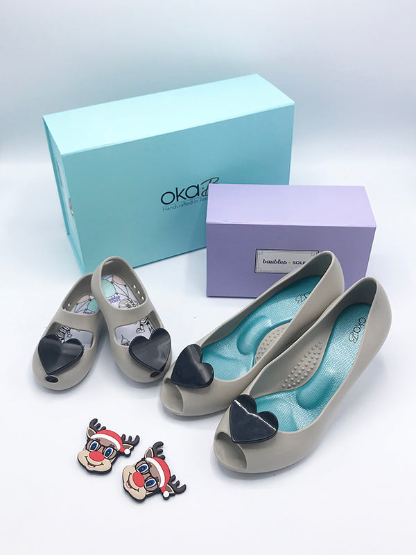 Mommy and Me Gift Set - Wedges in Dove