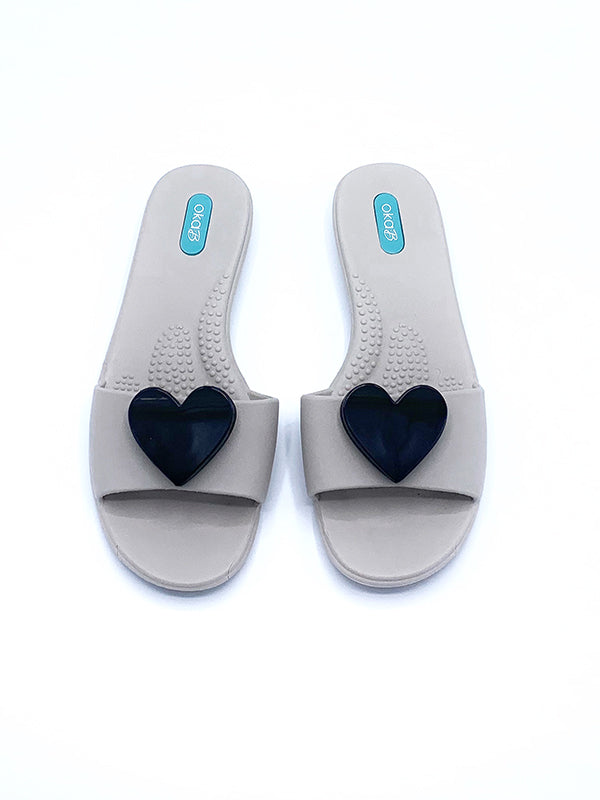 Mommy & Me, Lila Slide Sandal in Dove