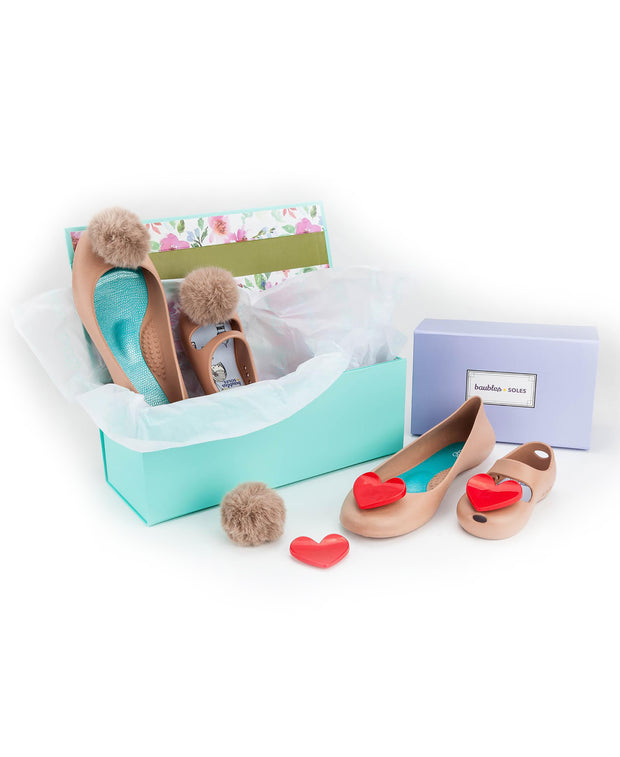 Mommy and Me Matching Gift Set in Sand