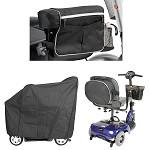 Scooter Accessory Kit, Contains Armrest Bag, Oval Bag, and Scooter Cover