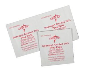 Sterile Alcohol Prep Pads (Medium)