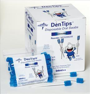 Dentips Untreated Disposable Oral Swabs