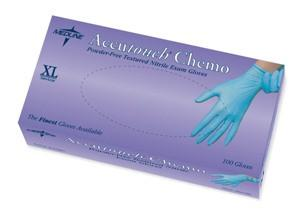 Accutouch Chemo Powder-Free, Latex-Free, Nitrile Exam Gloves