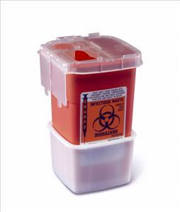 Portable Phlebotomy Sharps Container, 1qt