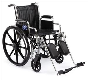 "Excel 2000 Wheelchair w/ Permanant Full Length Arms Fixed Footrests (18""  Black)"