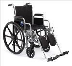 "K1 Basic 18"" Wheelchair w/Permanent Arms"