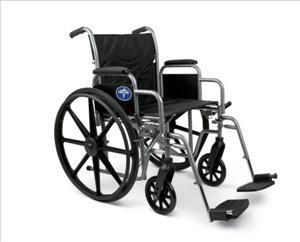 "Excel K1 20"" Wheelchair w/ Removable Desk Length Arms, Swing Away or Elevating Leg Rests"