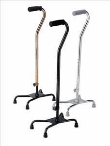 Large Base Quad Cane, Chrome (Case of 2)