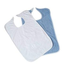 Adult Terry Bib, velcro, Blue (Dozen)