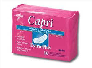 "Capri Bladder Control Pads Plus, 3""x10.5"" (Case of 144)"