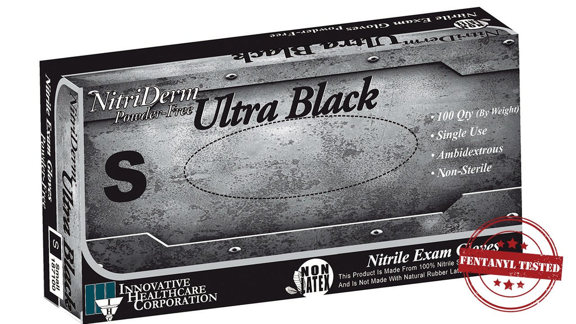 Nitriderm Nitrile Powder-Free Exam Gloves - Black
