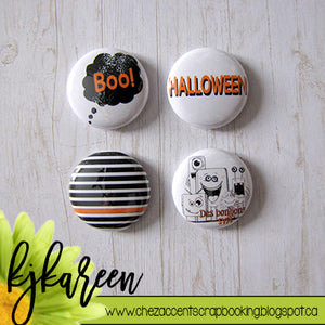 "Badge 1"" - Halloween par Tartine Peluche"