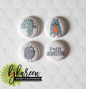 "Badge 1"" - Petit monstre"