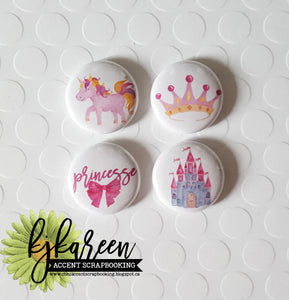 "Badge 1"" - Princesse"