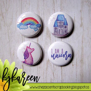 "Badge 1"" - I Am a Unicorn"