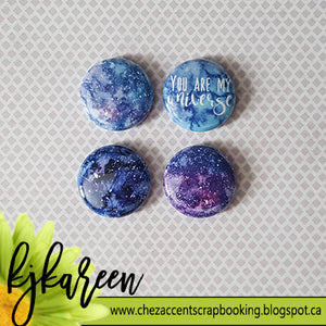 "Badge 1"" - Galaxy"