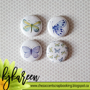 "Badge 1"" - Papillons #2"