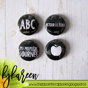"Badge 1"" - ABC"