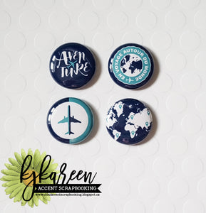 "Badge 1"" - Autour du monde par KareenBH"