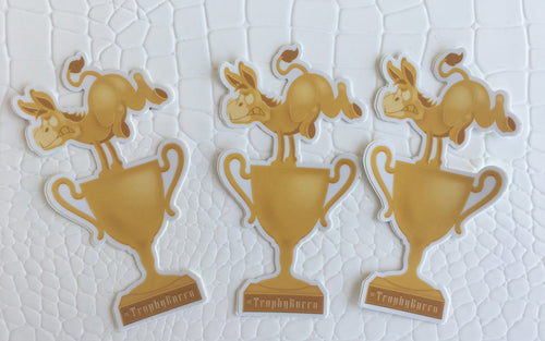 Trophy Burro Sticker Medium