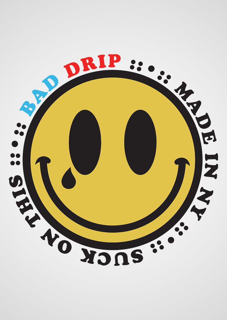 "BAD smiLey 15"" dECaL"