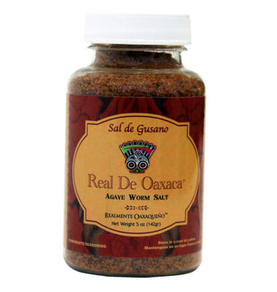 Sal de Gusano is a traditional Oaxacan spice made from sea salt, toasted and ground agave worms and variaty of died chiles