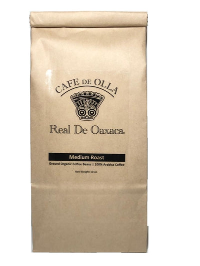 Cafe de olla Real de Oaxaca Made with Organic Oaxacan Medium Roast Coffee beans. Rich flavored authentic from Oaxaca Mexico