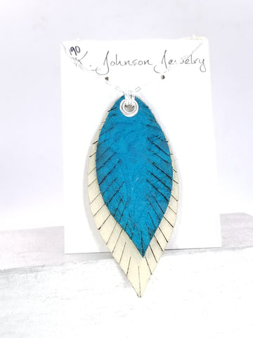 FLWR - 190 - Layered Feather Necklace - K. Johnson Jewelry LLC