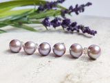 Freshwater Pearl Studs - Lilac - K. Johnson Jewelry LLC