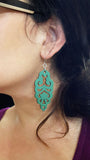 Filigree Earrings - Metallic Blue Ice - Large - K. Johnson Jewelry LLC