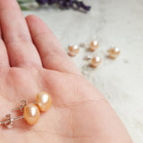 Freshwater Pearl Studs - Pink - K. Johnson Jewelry LLC