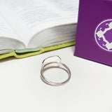 Spoken Word Shield Ring - Pure Joy